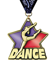 "2 1/4"" Dance Stained Glass Medal"