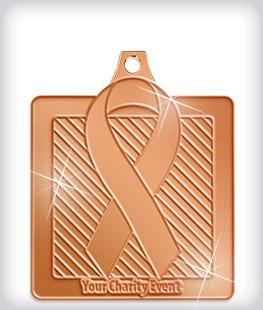 Shiny Bronze Custom Awareness Medals