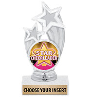 "6 1/4"" Clear Glory Insert Trophy"