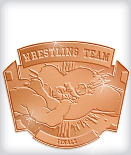 Shiny Bronze Custom Wrestling Medals