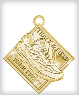 Shiny Gold Custom Running Medals