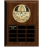 Fantasy Football Cherry Wood Perpetual Plaque