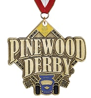 Pinewood Derby ® Medal