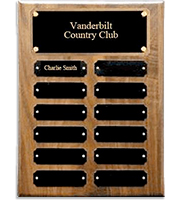 Walnut Perpetual Plaques With  Metal Plates